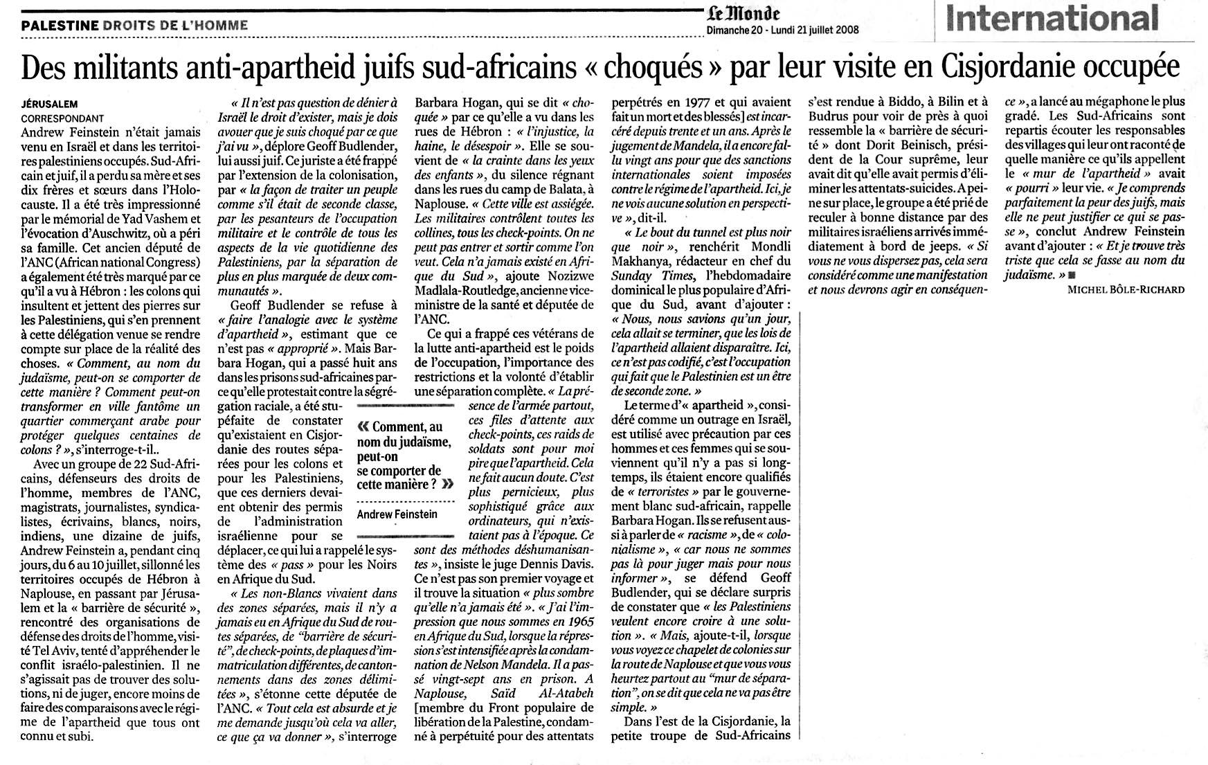 Article du Monde.